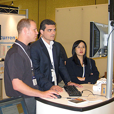 Currensee co-founder Asaf Yigal demos for Boris Schlossberg and Kathy Lien of BK Forex Advisors